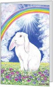 Rainbow Rabbit Card - Pet Loss