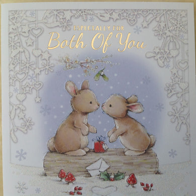 Especially For Both Of You Rabbit Christmas Card