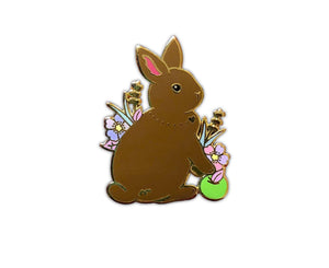 Brown Bunny Rabbit Brooch/Pin/badge - last One!