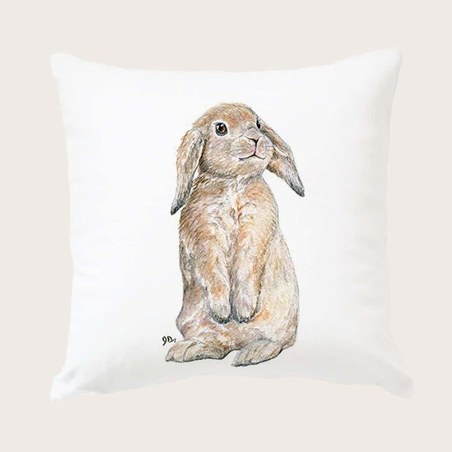 Soft touch Lop Bunny Rabbit Cushion Cover