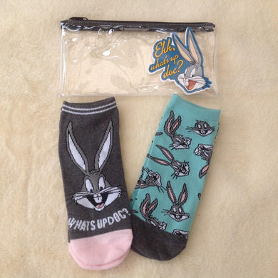 Bugs Bunny Sock and Pencil Case Gift Set