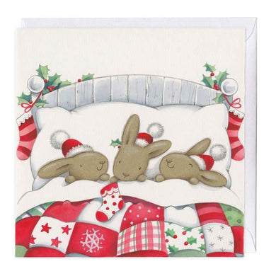 Bella Bunnies In Bed Christmas Card