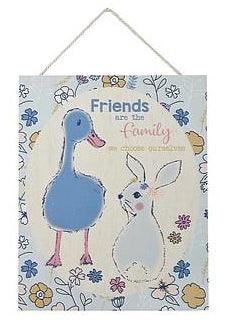 Pretty Pastels Bunny Rabbit Friend Wooden Plaque