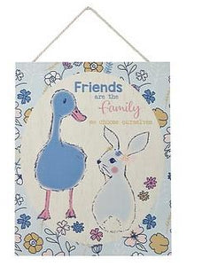 Pretty Pastels Bunny Rabbit Wooden Plaques