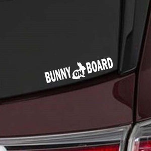 Bunny On Board Decals for Car or Pet Carrier