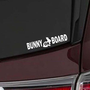 Bunny On Board Decals for Car or Pet Carrier - various colours