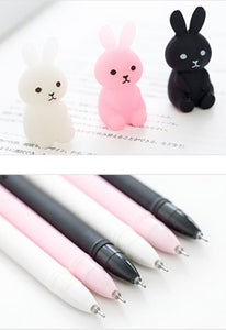 Bunny Gel Ink Pens - Set Of Three