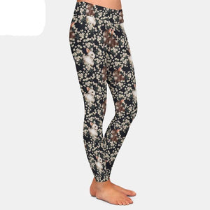 Ladies Bunny Rabbit High Waisted Leggings