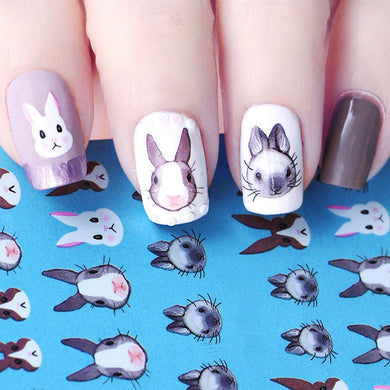 Bunny Nail Art Decals