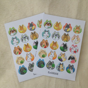 Bunny Rabbit Cute Stickers Sheets