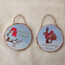 Christmas Hares and Friends Hanging Decorations - now in sets of 2!