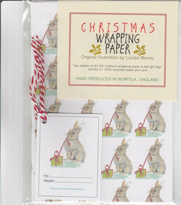 Christmas Bunny Rabbit Gift Wrap & Tag Sets- 3 Designs