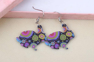 Colourburst Acrylic Bunny Earrings
