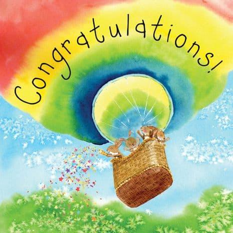 Congratulations Bunny Rabbit Card