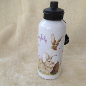 Crazy Bunny Lady Dutch Rabbit Water Bottle