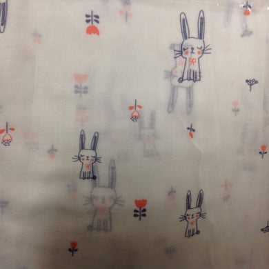 Cute Bunny Rabbit Ladies Scarf - 2 Colours