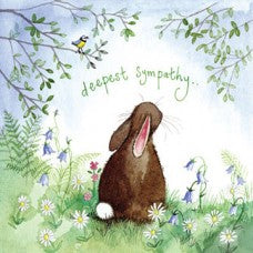 Alex Clark Deepest Sympathy Rabbit Card
