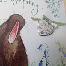 Alex Clark Deepest Sympathy Rabbit Card With Removable Keepsake Charm