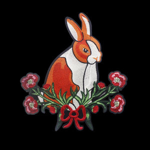 SALE - Iron On Large Dutch Bunny Patch