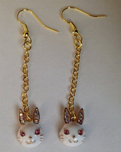 SALE - Gold Plated Bunny Earrings