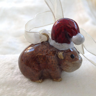Enamel Guinea Pig Christmas Tree Decoration