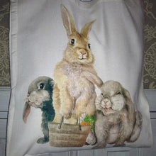 Field & Fur Bunny Rabbit Tote Bag - 2 Designs