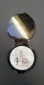 Field & Fur Bunny Lop Rabbit Mirror Compact
