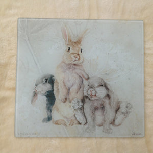 Field & Fur Bunny Rabbit Glass Worktop Table Saver