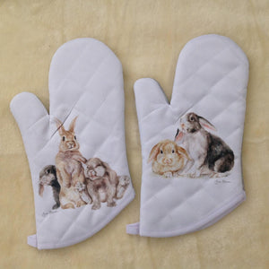 Field & Fur Bunny Rabbit Oven Mitt- 2 Designs