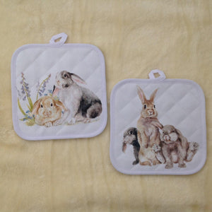 Field & Fur Bunny Rabbit Pot Stand/Oven Mitt - 2 Designs