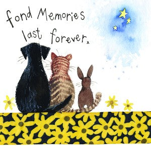 Alex Clark Fond Memories Pet Sympathy Card