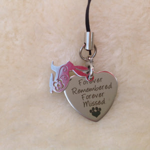 Forever Remembered Forever Missed Memorial Rabbit Charm