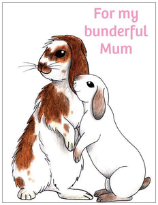 To My Bunderful Mum Bunny Rabbit Fridge Magnet