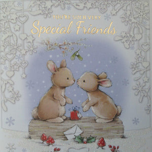 You're Such Very Special Friends Bunny Rabbit Christmas Card