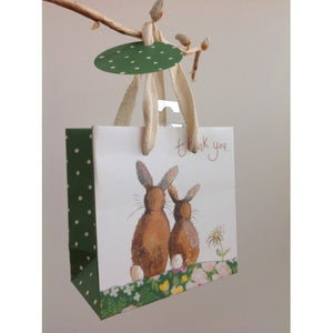 Alex Clark Art Bunny Thank You Gift Bag (Small)