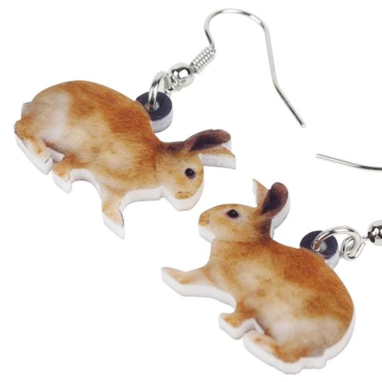 Ginger Bunny Acrylic Bunny Rabbit Earrings