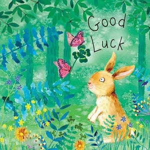 Good Luck Bunny Rabbit Card