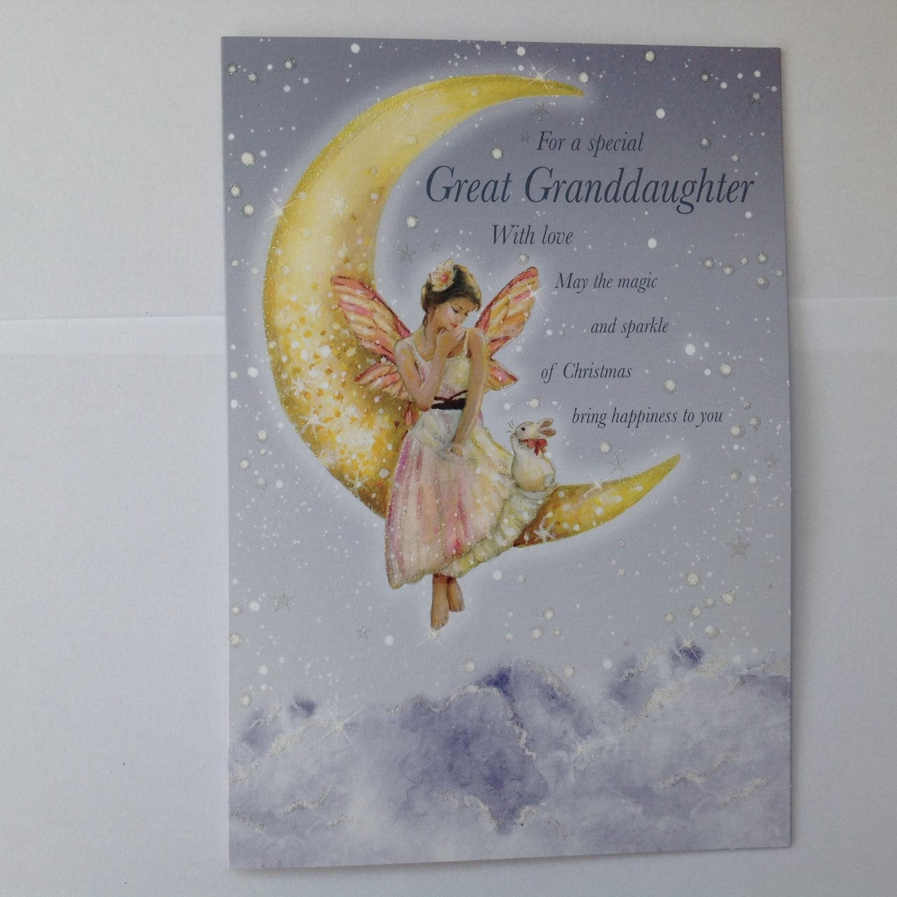Great Granddaughter Fairy & Rabbit Christmas Card