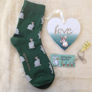 Green Love Bunny Gift Set