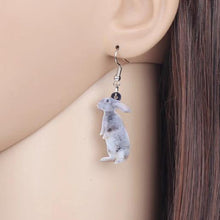 Grey Bunny Acrylic Bunny Rabbit Earrings