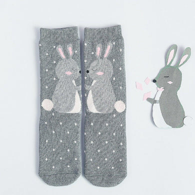 Praying Bunny Rabbit Thick Warm Socks