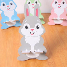 Wooden Rabbit Phone/remote control Stand