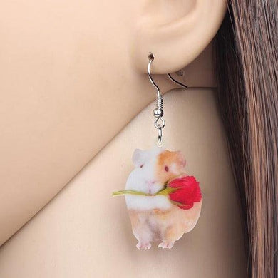 Guinea Pig Acrylic Earrings
