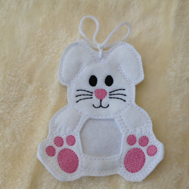 Handmade Felt Bunny Decoration/ Gift Bag