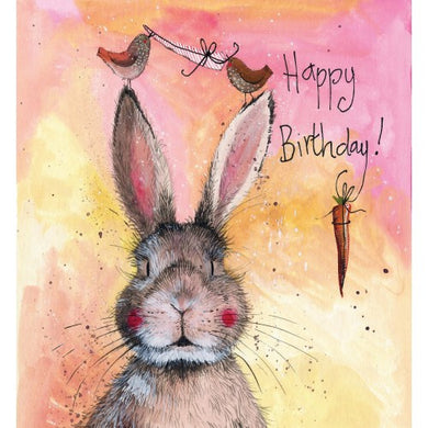 Alex Clark Hannah Happy Birthday Rabbit Card
