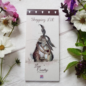 Love Country Hares My Heart Rabbit Magnetic Shopping List