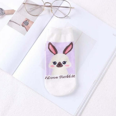 I Love Rabbit Low Ankle Socks - 3 Bunny Breeds