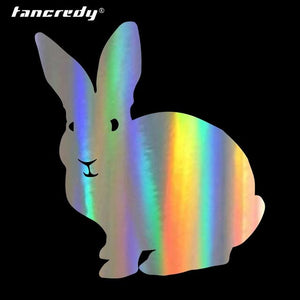 Holographic Bunny Vinyl Decals for Car and Windows