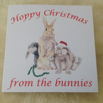 Exclusive From The Bunnies Three Rabbits Christmas Card