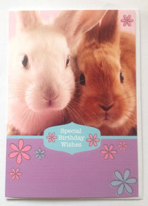 Large Bunny Rabbit Birthday Card